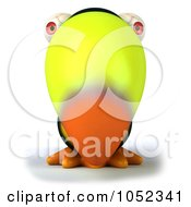 Royalty Free 3d Clip Art Illustration Of A 3d Toucan Facing Front