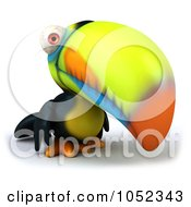 Royalty Free 3d Clip Art Illustration Of A 3d Toucan Facing Right