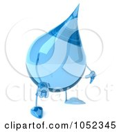 Royalty Free 3d Clip Art Illustration Of A 3d Water Droplet Pouting