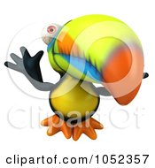 Royalty Free 3d Clip Art Illustration Of A 3d Toucan Jumping