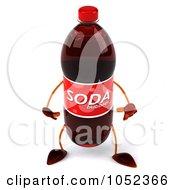 Royalty Free 3d Clip Art Illustration Of A 3d Soda Bottle Pouting
