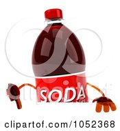 Royalty Free 3d Clip Art Illustration Of A 3d Soda Bottle With A Blank Sign Board 1