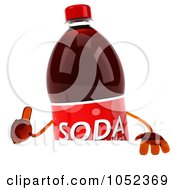 Royalty Free 3d Clip Art Illustration Of A 3d Soda Bottle With A Blank Sign Board 2