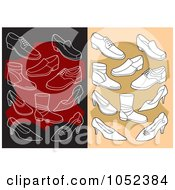 Digital Collage Of Backgrounds Of Shoes