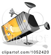 Royalty Free Clip Art Illustration Of A Carton Computer Tower Doing A Cartwheel