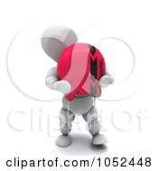 Royalty Free 3d Clip Art Illustration Of A 3d White Character Holding A Capacitor by KJ Pargeter