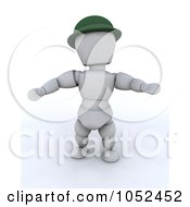 Royalty Free 3d Clip Art Illustration Of A 3d White Character Leprechaun by KJ Pargeter