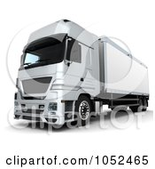 Royalty Free 3d Clip Art Illustration Of A 3d Euro HGV Trailer 4 by KJ Pargeter