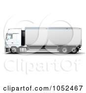 Royalty Free 3d Clip Art Illustration Of A 3d Euro HGV Trailer 5 by KJ Pargeter