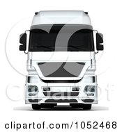 Royalty Free 3d Clip Art Illustration Of A 3d Euro HGV Trailer 2