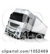 Royalty Free 3d Clip Art Illustration Of A 3d Euro HGV Trailer 1