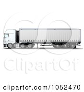 Royalty Free 3d Clip Art Illustration Of A 3d Euro HGV Trailer 3