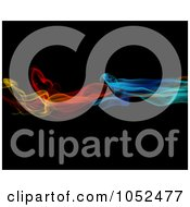 Royalty Free 3d Clip Art Illustration Of Colorful Smoke On Black by KJ Pargeter