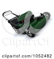 Royalty Free 3d Clip Art Illustration Of A 3d Green Lawn Mower by KJ Pargeter