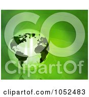 Royalty Free 3d Clip Art Illustration Of A 3d Transparent Globe On A Green Leaf by KJ Pargeter