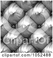 Royalty Free 3d Clip Art Illustration Of A 3d Seamless Silver Upholstery Background Texture