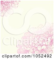 Pink Lilac Flower And Beige Floral Invitation Background - 1