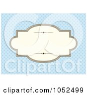 Royalty Free Vector Clip Art Illustration Of A Blue Invitation Background With A Beige Text Box 2