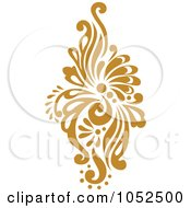 Royalty Free Vector Clip Art Illustration Of A Gold Damask Design Element 2