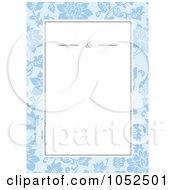 Royalty Free Vector Clip Art Illustration Of A Blue Floral Invitation Background 8