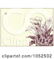 Royalty Free Vector Clip Art Illustration Of A Calla Lily Flower Invitation Background 1