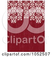 Ornate Damask Border On Distressed Red