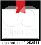 Royalty Free Vector Clip Art Illustration Of A Red Book Mark Over A White Text Box On Black