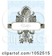 Royalty Free Vector Clip Art Illustration Of A Blue Floral Invitation Background 7
