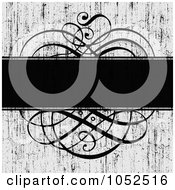 Royalty Free Vector Clip Art Illustration Of A Distressed Gray And Black Swirl Invitation Background