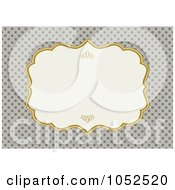 Royalty Free Vector Clip Art Illustration Of A Tan Floral Invitation Background With A Gold And Beige Text Box
