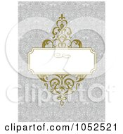 Royalty Free Vector Clip Art Illustration Of A Gray Floral Invitation Background 1