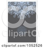 Royalty Free Vector Clip Art Illustration Of A Blue And Gray Invitation Background With White Borders