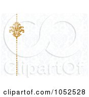 Royalty Free Vector Clip Art Illustration Of A Gold Damask Border On Gray