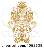 Royalty Free Vector Clip Art Illustration Of A Gold Damask Design Element 6
