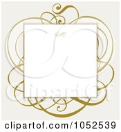 Royalty Free Vector Clip Art Illustration Of A Blank Text Box Over Brown Swirls On Gray