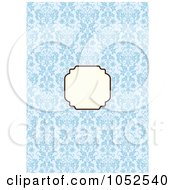 Royalty Free Vector Clip Art Illustration Of A Blue Invitation Background With A Beige Text Box 13