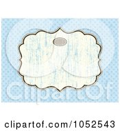 Royalty Free Vector Clip Art Illustration Of A Blue Invitation Background With A Beige Text Box 3