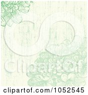 Royalty Free Vector Clip Art Illustration Of A Green Distressed Lilac Flowers Invitation Background