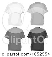 Royalty Free Vector Clip Art Illustration Of A Digital Collage Of White Gray And Black T Shirts by BestVector