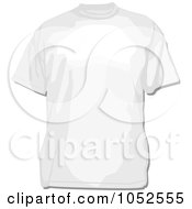 Royalty Free Vector Clip Art Illustration Of A White Tee Shirt by BestVector