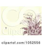 Royalty Free Vector Clip Art Illustration Of A Calla Lily Flower Invitation Background 2 by BestVector