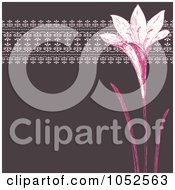 Royalty Free Vector Clip Art Illustration Of A Mauve And Pink Lily Invitation Background