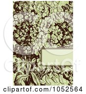 Royalty Free Vector Clip Art Illustration Of A Green And Brown Lilac Flower Invitation Background