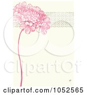 Royalty Free Vector Clip Art Illustration Of A Pink Lilac Flower And Ornate Trim Floral Invitation Background 2