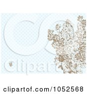 Royalty Free Vector Clip Art Illustration Of Lilac Flowers On Blue Pattern Invitation Background