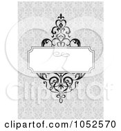 Royalty Free Vector Clip Art Illustration Of A Gray Floral Invitation Background 2