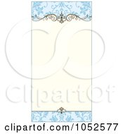 Royalty Free Vector Clip Art Illustration Of A Blue Floral Invitation Background 3