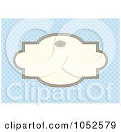 Royalty Free Vector Clip Art Illustration Of A Blue Invitation Background With A Beige Text Box 12