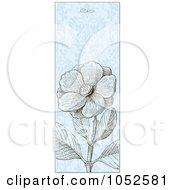Royalty Free Vector Clip Art Illustration Of A Vertical Blue Wild Rose Flower Invitation