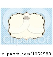 Royalty Free Vector Clip Art Illustration Of A Blue Invitation Background With A Beige Text Box 8